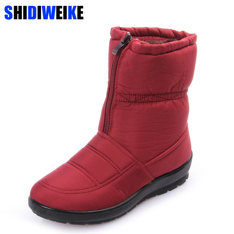 2018 women snow boots winter warm boots thick bottom platform waterproof ankle boots for women thick fur cotton shoes size 35-42 kemekiss women warm plush warm snow boots for women thick platform ankle botas female thick fur winter footwear size 36 40
