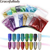16colors Mixed Colors 0 1MM 1 256 Holographic Laser Shining Nail Dust Glitter Powder For DIY