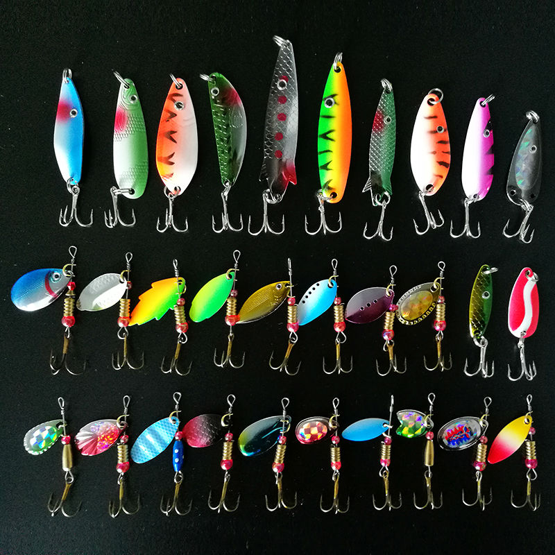 Spinner 30pcs/lot 2.5-3.5g Fishing Lure Spoon Baits Spinnerbait Metal Hard Lure Isca Artificial Multi Color Fishing Tasckle afishlure as05 7g 9g metal hard lure spinnerbait bronze metal spoon lure spinner lure metal jig 4pcs lot