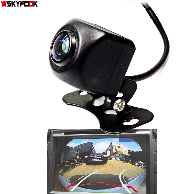 Appr 180 Degree Angle  Dynamic Trajectory cuver Line Car Rear View Reverse Backup Camera Fisheye Lens Parking Monitor