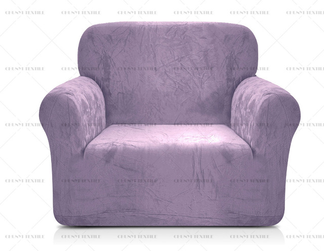 Plush Spandex 1 Seat Sofa Cover Coral Fleece Chair Slipcovers Single Couch  Cover Printed Sectional Covers Coloeful Sofa Covers