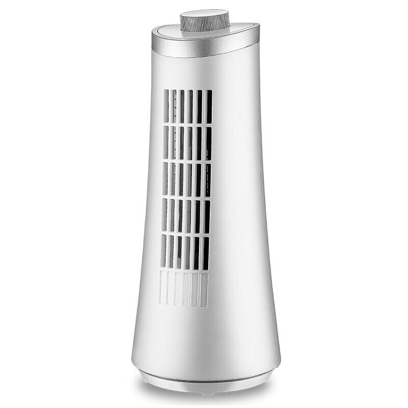DMWD Desktop Mini Electric Fan Tower Bladeless Fan Table Cooling Fan Two Speed With Swing Function Silent 220V