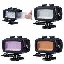 6 Вт 30 м подводный светодиодный Заполните свет для GoPro Hero 6 5 4/SJCAM SJ4000/Xiaomi yi Камера 2/1 Action Cam Камера Интимные аксессуары
