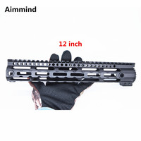 AR 15 M4 Ultra lightweight Free Float Handguard Airsoft Tactical Picatinny Rail Base Forend Scope Mount M LOK handguard