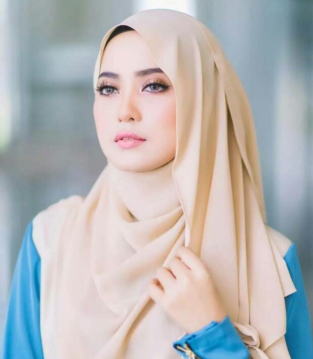 Woman Hijabs Scarf Muslim Plain Headscarf Hijab Caps Wraps Women Islamic Fashion Chiffon Scarf
