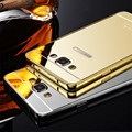 Funda de teléfono con reflejo de espejo, cubierta trasera delgada de acrílico para Samsung Galaxy J5 J7 A5 A7 A8, fundas con marco de aluminio contra golpes