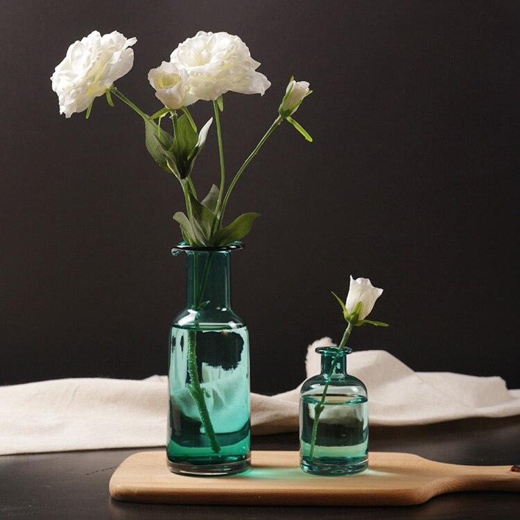 decoracin del hogar floreros de cristal azul de la flor florero decoracin moderna jarrones decorativos retro