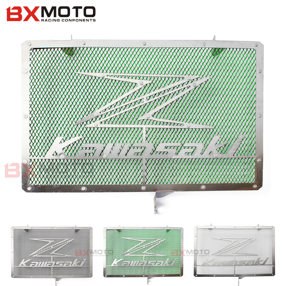 Motorcycle accessories Green Radiator Protective Cover Grill Guard Grille Protector For Kawasaki Z750 Z1000 2007~2015 motorcycle arashi radiator grille protective cover grill guard protector for kawasaki z800 2013 2014 2015 2016