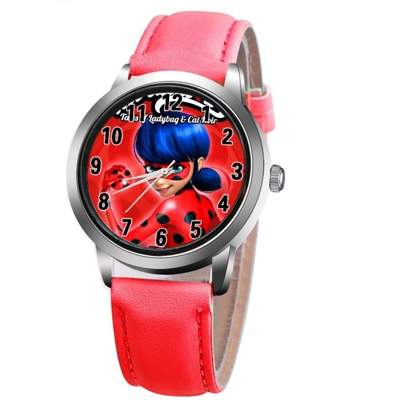 New arrive Miraculous Ladybug Watches Children Kids gift Watch Casual Quartz Wristwatch fashion leather watch Relogio RelojesNew arrive Miraculous Ladybug Watches Children Kids gift Watch Casual Quartz Wristwatch fashion leather watch Relogio Relojes