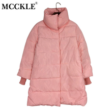 MCCKLE 2017 Winter Women Medium-Long Parka Jacket Cotton Padded Thick Warm Ladies Jackets Coat Outwear Loose Casaco Feminino