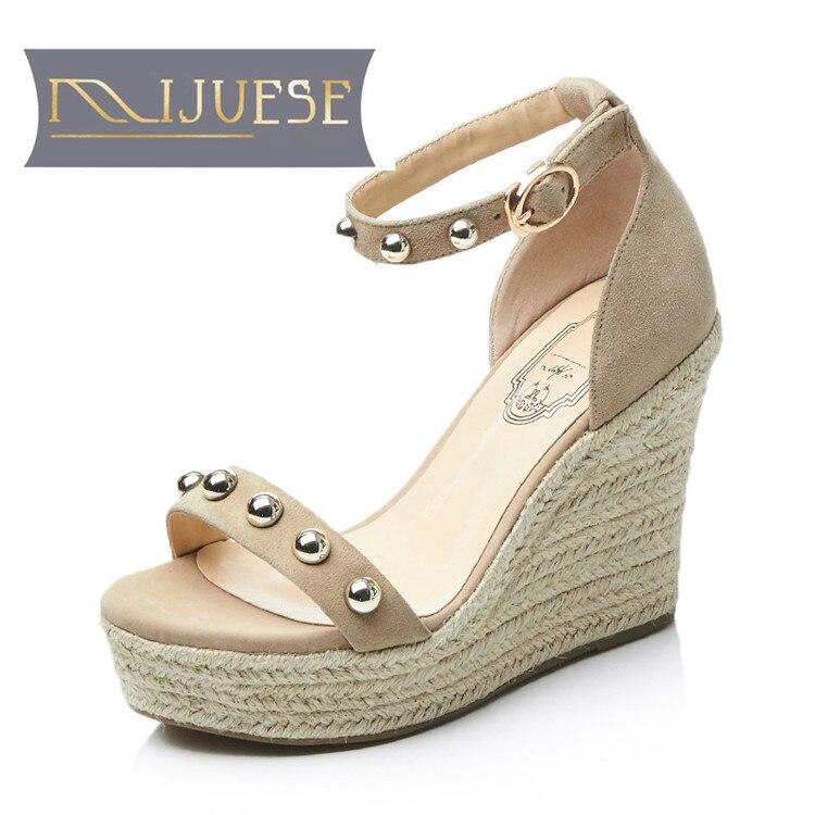 MLJUESE 2018 women sandals Genuine
