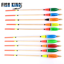 FISH KING Mixed Color Barguzinsky Fir Float 5pcs/lot 3+2g 4+2g 5+2g 6+2g Vertical Pesca For Carp Fishing Float Fishing Tackle(China)