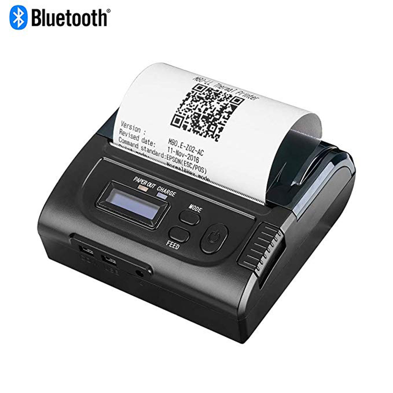 ISSYZONEPOS 80mm Thermal Printer Bluetooth Mobile Receipt Mini Printer Ticket Light For Android/Windows ESC/POS/ Kinds Languages