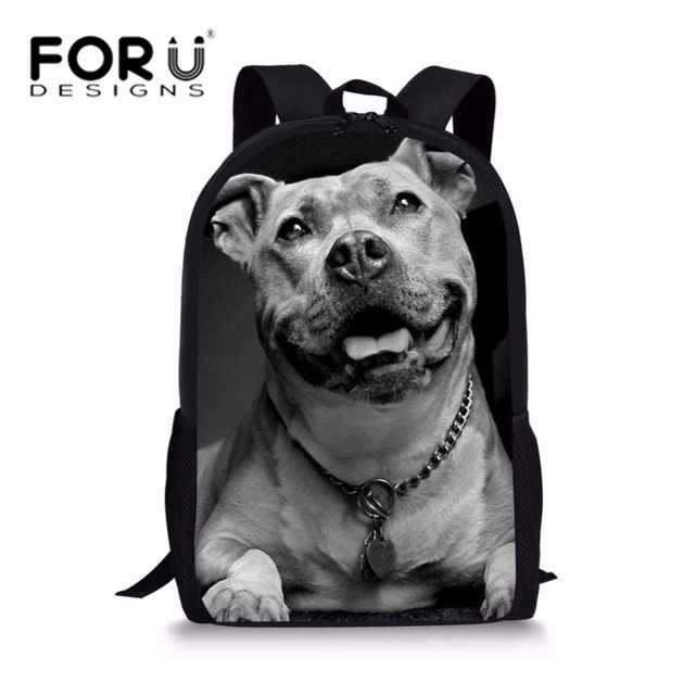 6a6813afdbbb For Sale FORUDESIGNS School Bags for Kids Pit Bull Terrier Printing ...