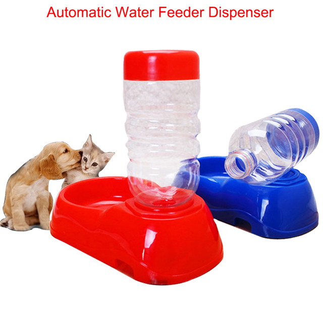 Pet Automatic Water Feeder Dispenser Tool Food Dish Water Bowl For Pet Dog Cat Feeding Color Random 21.5 cm Goods for anmails
