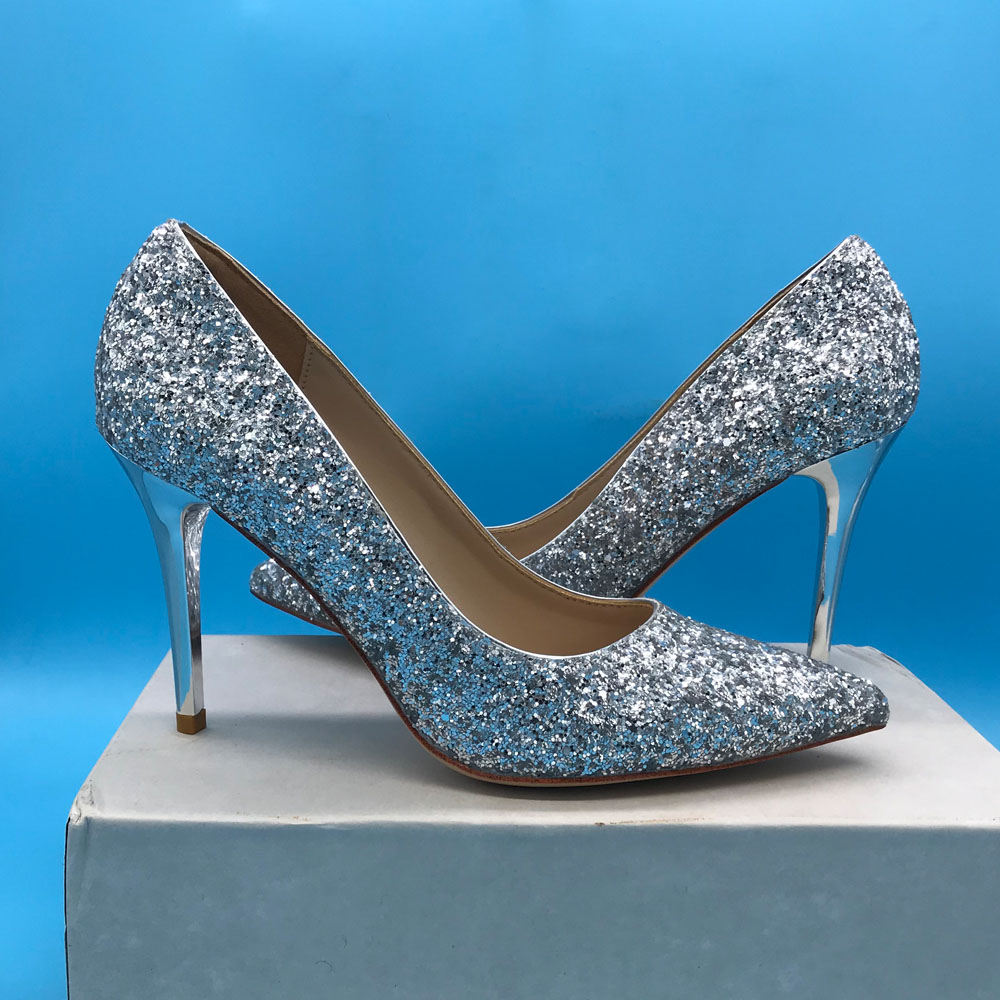 Bling Bling Design Female Wedding Shoes High Heel Pumps Sexy Party Shoes For Ladies-in Women's Pumps from Shoes    1