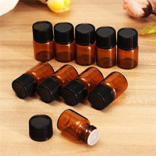 Hot Sale 10Pcs 2 ml Amber Glass Dripper Bottles Empty Sample Vials For Essential Oils Aromatherapy Crafts Travel Storage(China)