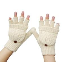 Winter Gloves Women Mitten Warmer Fingerless Gloves