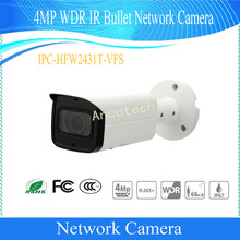 Free Shipping DAHUA Security CCTV IP Surveillance 4MP WDR IR Bullet Network Camera With POE IP67 IK10 No Logo IPC-HFW2431T-VFS