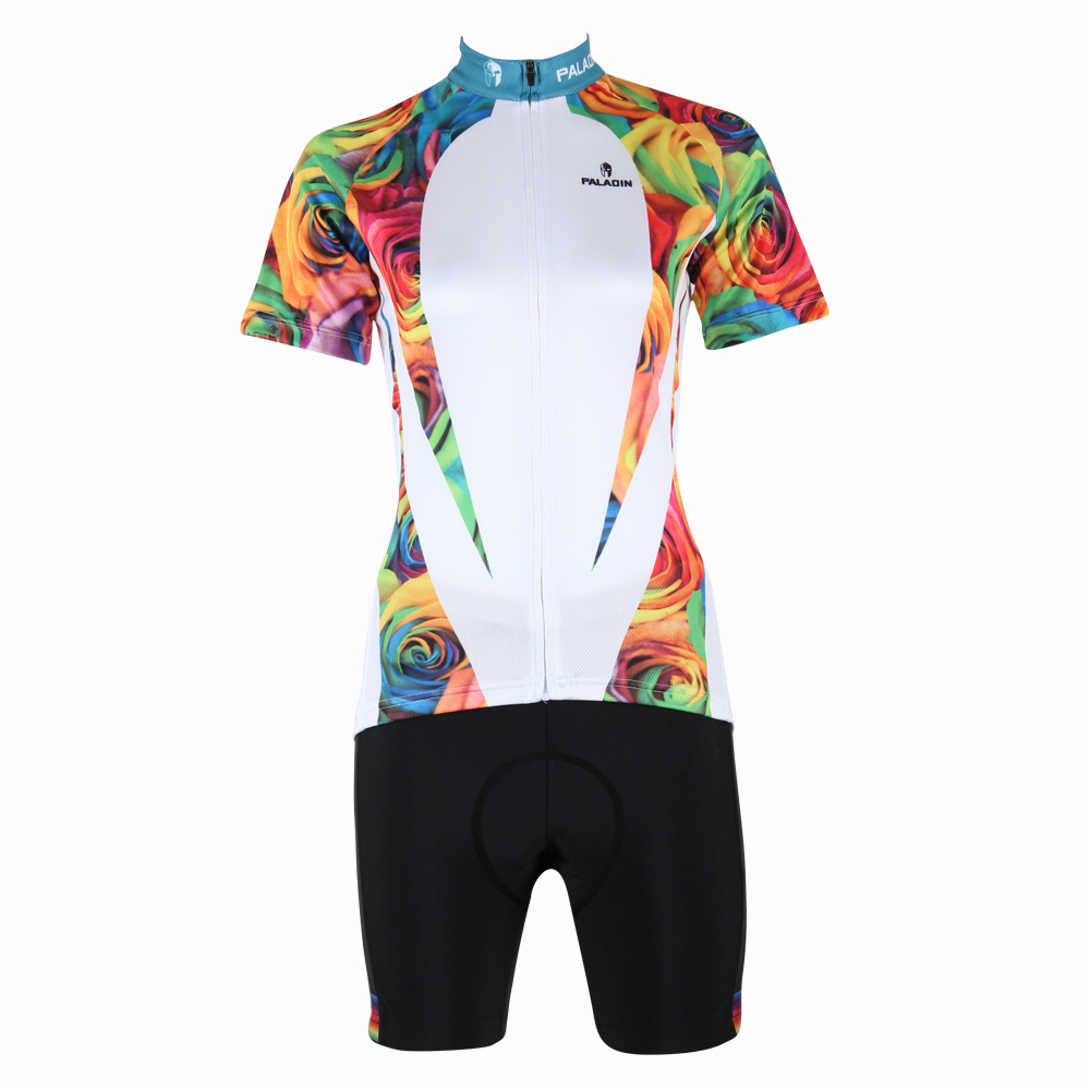 2016 Cycling Wear Women Breathable top sleeve Cycling Jersey Personas Rose Bicycle Apparel White Cycling Clothing Size XS-6XL IL 2016 new men s cycling jerseys top sleeve blue and white waves bicycle shirt white bike top breathable cycling top ilpaladin