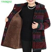 Женский пуховик среднего возраста, хлопковая куртка, Осень-зима, народный стиль, свободное теплое хлопковое пальто, женская верхняя одежда ...
