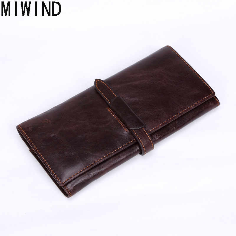 MIWIND Vintage Hasp Genuine Leather Wallet Male Clutch Luxury Brand Coin Purse Card holder Handbags Men Wallets money bag TMS77 monoleth luxury brand genuine leather wallet men vintage wallets clutch pouch coin purse zipper leather wallet w2004 2