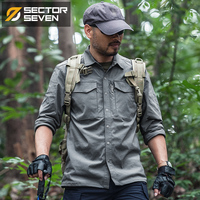 2018New Tactical shirt Mens Military Shirt Combat Male Shirt Quick Dry Breathable elasticity casual Long sleeve