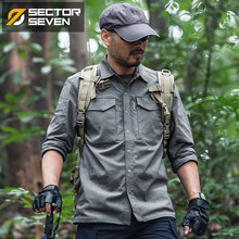 2018New Tactical shirt Mens Military Shirt Combat Male Shirt Quick Dry Breathable elasticity casual Long sleeve(China)