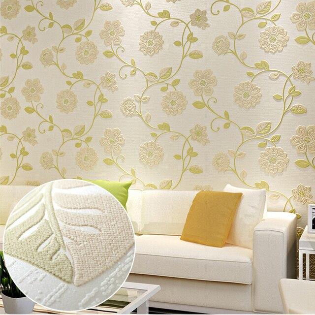 US $36.65 |Nuovo arriva papel de parede floreale super tocco 3d fiore carta  da parati moderna per camera da letto caldo e soggiorno 6 colori scelta in  ...