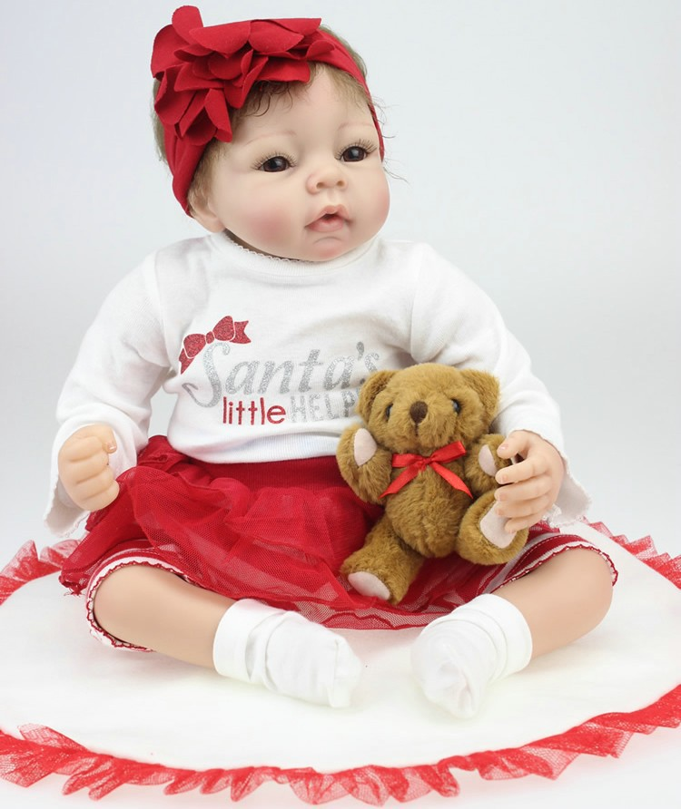 22 tums mjuk silikon Reborn baby dockor realistisk 55cm handgjorda nyfödda Bebe docka för barn DIY leksaker återfödda Bonecas