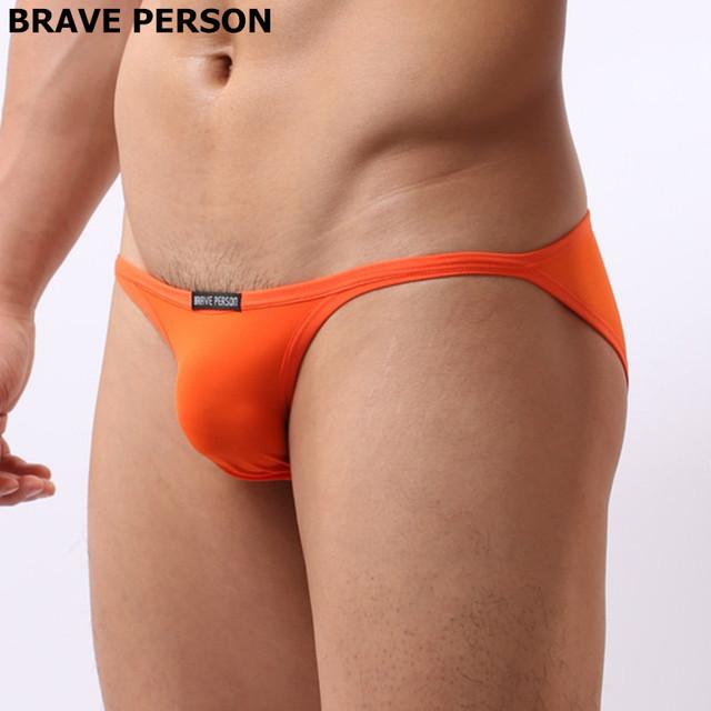 Mini Briefs Low rise Smooth Nylon Male Underwear Briefs