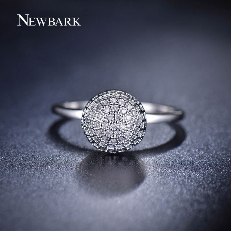 NEWBARK Vintage Cute Ball Rings For Women Small Korean Silver Color Minimalis