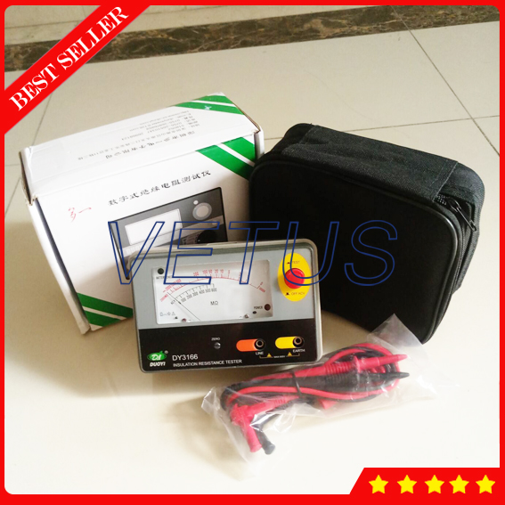 DY3166 1000V Analogue Aislamiento Megger for High precision pointers type Insulation Resistance Tester