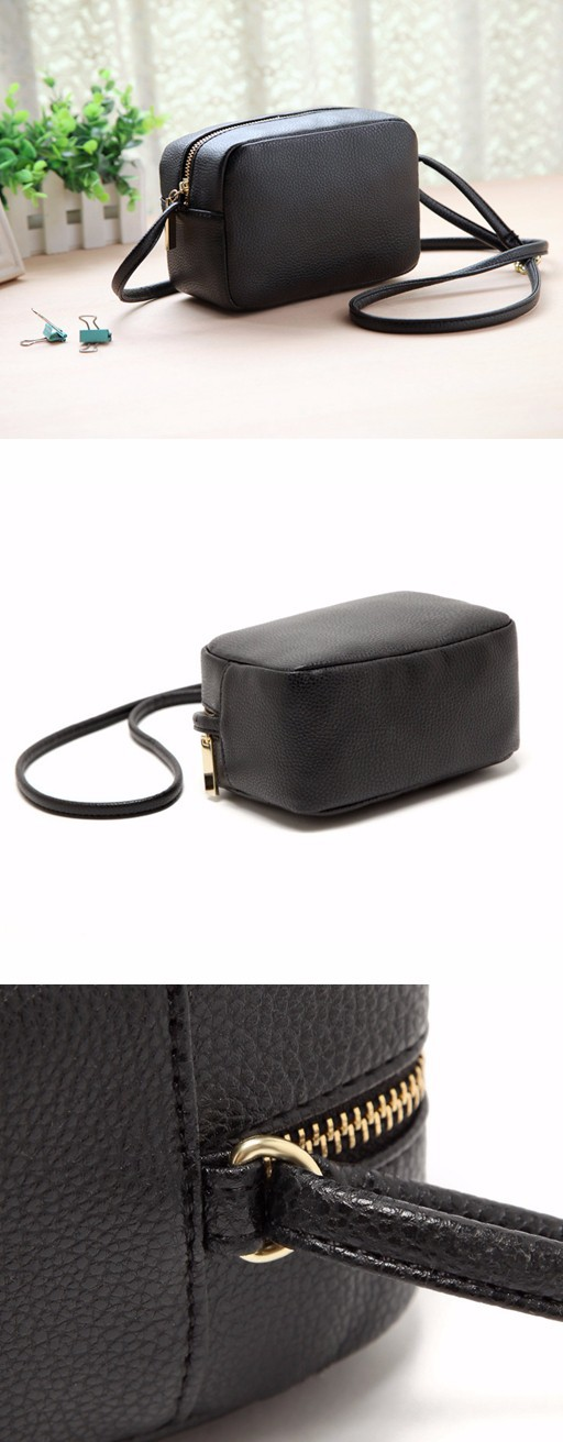 bbf25f6de6c4 2015 hot new women black shoulder diagonal small square bag phone package  coin pocket casual Dimensions  length 20cm width 14cm height 7cm ...