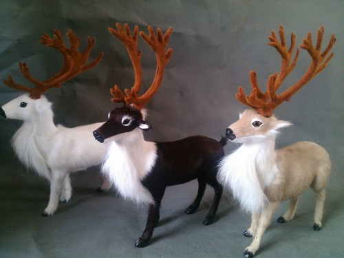 ФОТО simulation Reindeer model 27X20CM toy ,lifelike Reindeer model home decoration gift t437