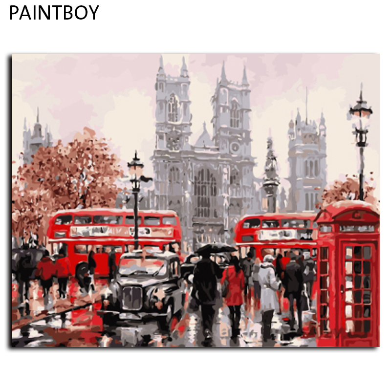 Paintbo Landscape Framed Pictures Painting By Numbers Diy Canvas Painting By Numbers 40*50cm Home Decor Picture Wall Art