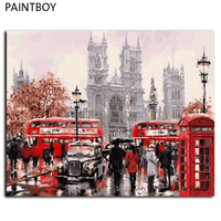 Europe Landscape Frameless Pictures Painting By Numbers DIY Canvas Painting By Numbers 40 50cm Home Decoration