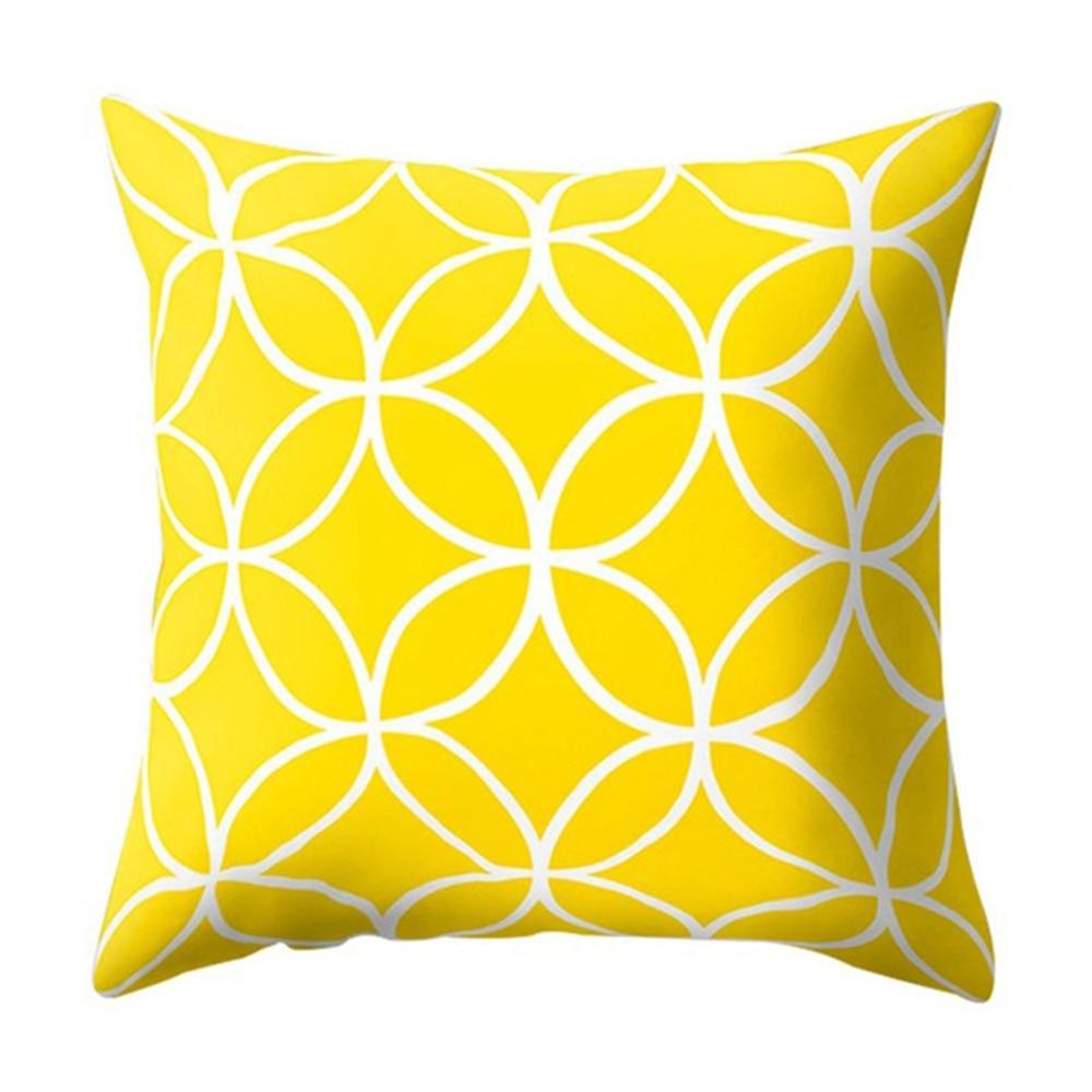 HTB1FJ6wXBWD3KVjSZKPq6yp7FXai Polyester Geometric Cushion Yellow Pineapple Pillow Decorative Cushion for Sofa DIY Printed Pillow Seat Chair Cushion