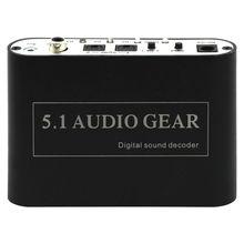 5,1 Audio Decoder konverter Digital Analog Decoder Spdif Coaxial RCA Unterstützung DTS/AC3/Dolby für HD Spieler/DVD/XBOX360