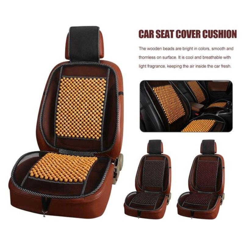 Housse de siège de voiture coussin Auto véhicule perle en bois pièce unique respirant Cool Jumper Pad universel voiture tapis accessoire été