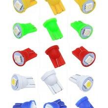 100 шт цветной T10 5050 1SMD 5050 1 светодиодный 194 168 W5W автомобильный боковой клиновидный задний светильник для чтения, автомобильная лампа для пинбола
