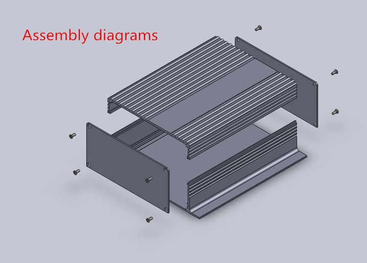 Корпус AMP 147*55*155 мм мини алюминиевый усилитель шасси сплиттер Преобразователи мощности аудио декодер корпус AMP Корпус DIY коробка