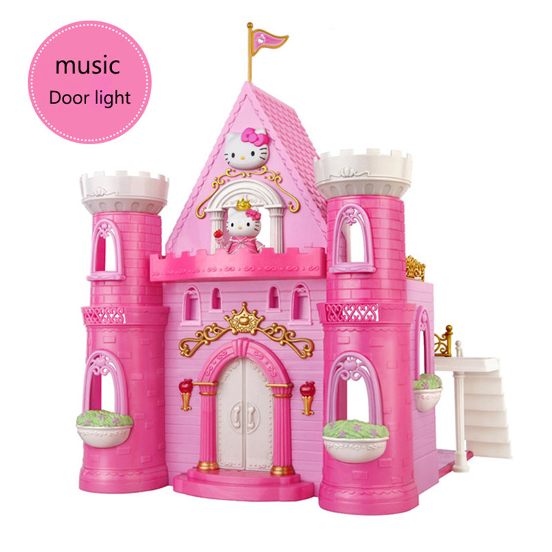 Branded Toy Princess Pink Castal Doll house Girl's Dreamy Dollhouse Best Gift Toy swarovski dreamy 5200065