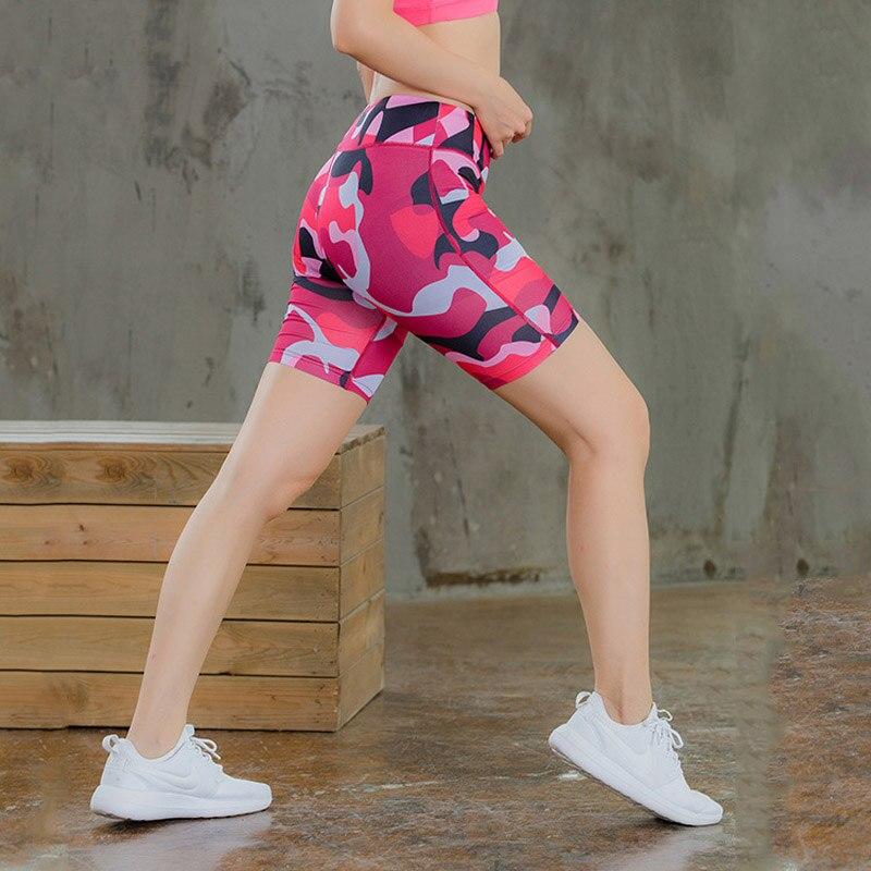 ✔  Женские спортивные шорты Yoga Fitness Running Workout Упругие шорты Женские шорты 8 цветов Стрейч тр ★