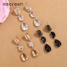 Mecresh милые висячие серьги с кристаллами, длинные висячие серьги для женщин, уникальный дизайн, геометрические маленькие висячие серьги, модное ювелирное изделие MEH1463