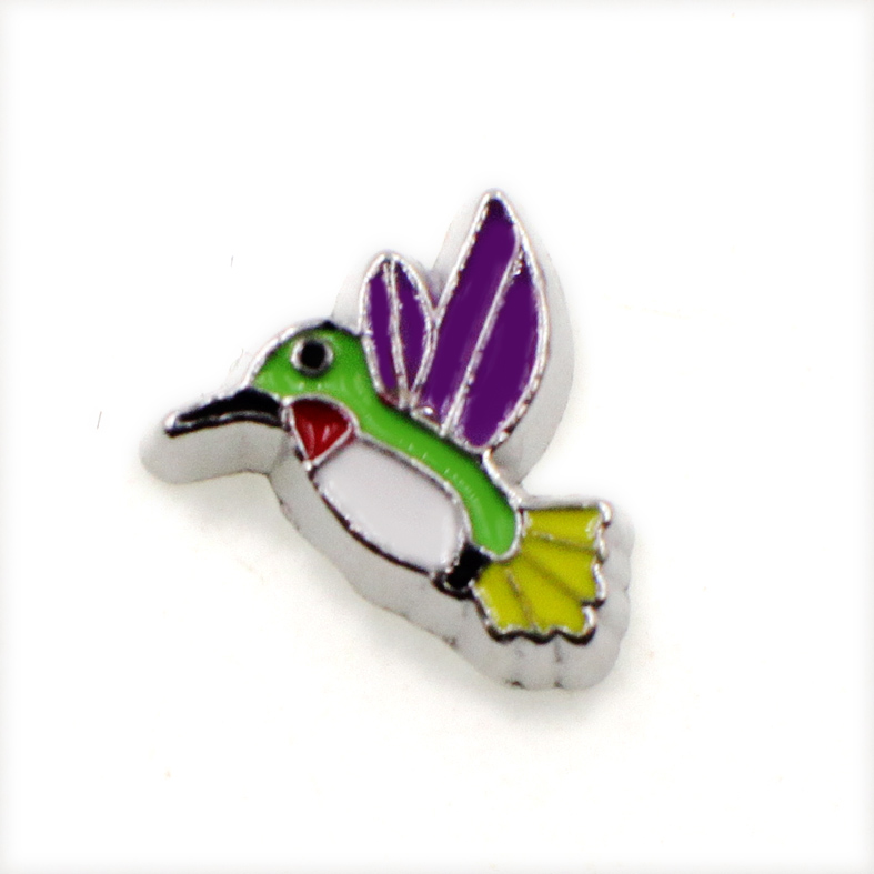 60PCS Cute Flying Bird Alloy Floating Charms Fit Glass Locket Charms DIY Jewelry Accessories