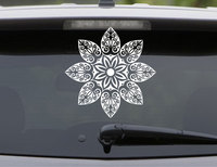 Mandala Flower Decal For Car Doily Floral Hippie Seed Of Life Pretty Fractal Psychedelic Sunflower Vinyl Sticker Waterproof MT30