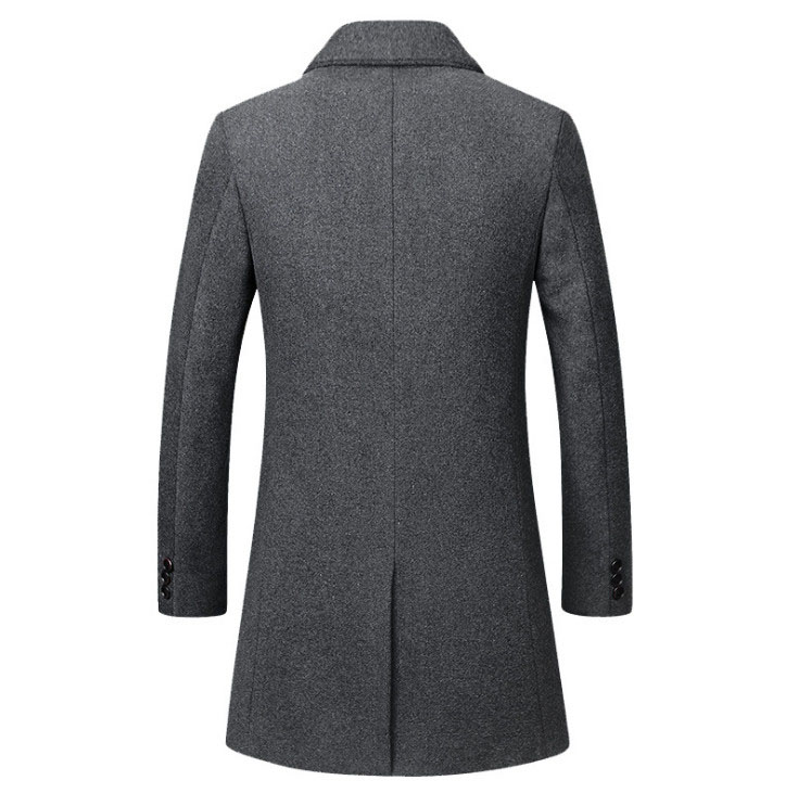 Winter Wool Coat Slim Collar 5