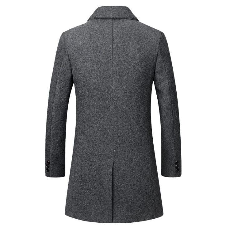 Winter Wool Coat Slim Collar 5