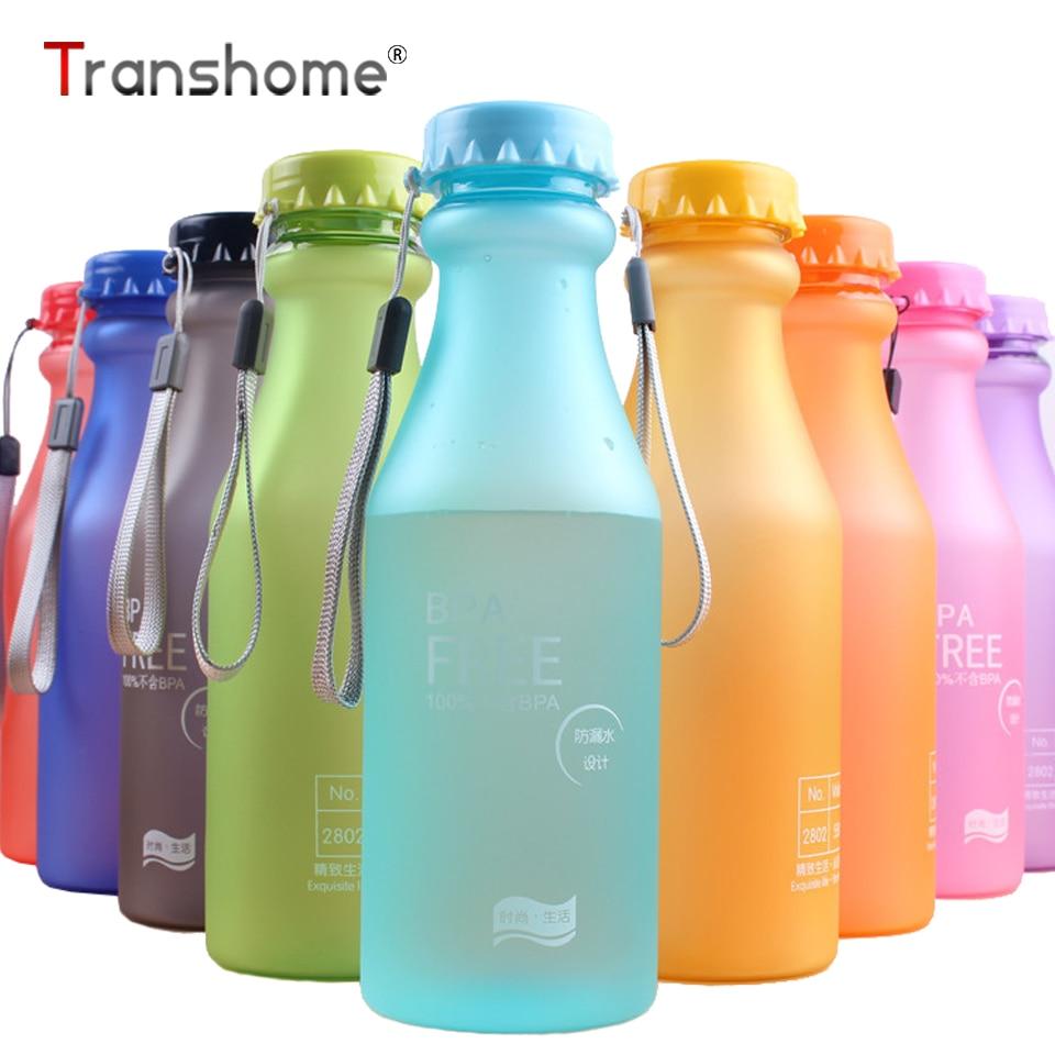 Transhome modes ūdens pudele sporta pudeles vasaras nesalaužamām - Virtuve, ēdināšana un bārs